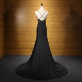 黒くセクシーな人魚の高品質の人魚のイブニング・ドレス