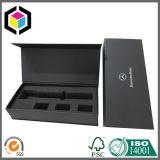 Contenitore impaccante di regalo del documento del cartone del nero dell'intarsio della protezione della gomma piuma