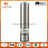 La batteria spazzolata funzione chiara dell'acciaio inossidabile gestisce il laminatoio di pepe & del sale