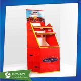 Kundenspezifische Wühlkorb-Pappe, die Bildschirmanzeige für Getränke bekanntmacht