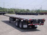 2 des essieux 20FT de lit plat remorque de conteneur de remorque semi