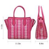 Sacchetto di cuoio del Tote di corsa, ultimi sacchetti di modo di Ming Hua 2 borse stabilite delle signore di PCS