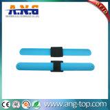 bracelete azul da batida do silicone de 13.56MHz RFID NFC para atividades