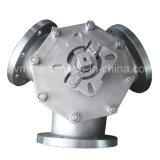 Acero inoxidable tipo Y de tres vías 3-Port 3-Way brida Válvula de bola Q42f