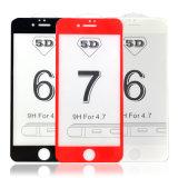 Protector curvado de la pantalla del vidrio Tempered de la cubierta completa 5D del borde para el iPhone 6 6s 6plus 6splus 7 7plus