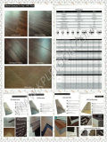 Graue Farben-hölzerner Vinylfußboden, Belüftung-Vinylfußboden