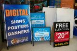 24 x 36 un bâti de publicité portatif de stand de dispositif d'affichage de craie de tableau noir de signes d'affiche de panneaux publicitaires porté par un homme-sandwich en métal d'acier de dessins extérieurs de double