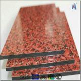 刷毛引き仕上げのアルミニウムプラスチック合成のパネル