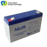 6V10ah非常指揮権システムのための再充電可能なAGMによって密封される鉛の酸蓄電池