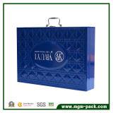 Contenitore cosmetico di cuoio blu di unità di elaborazione di alta qualità