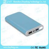 8000mAh 휴대용 충전기 장방형 플래쉬 등 (ZYF8069)를 가진 이중 USB 운반 힘 은행