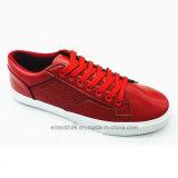 Ботинки людей кожи способа красного цвета (ET-LH160314M)