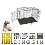 Faltbares Metallhundehaustier-Zubehör für 3 Türen