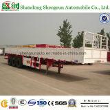 Aanhangwagen van de Vrachtwagen van de Lading van de Zijgevel van het TriCompartiment van de As van het nut Semi Flatbed