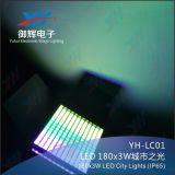 Im Freien 180PCS 9W RGB 3in1 LED Stadt-Farben-Licht