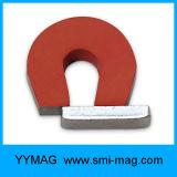 De rode Verf Gegoten Hoefijzer U-vormige Magneet van AlNiCo LNG40