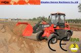 China Hydraulische 4WD Everun Lader van het Wiel van 2 Ton de Compacte