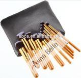 Brosse de lecture cosmétique de renivellement de traitement en bois professionnel d'or de luxe de couleur