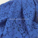 Ткань шнурка вязания крючком голубого хлопка африканская (NF1002)