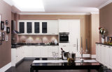 Мебель кухни PVC модульной мебели дома самомоднейшая деревянная (zc-058)