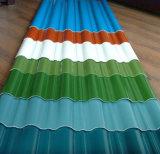 Hoja de acero acanalada prepintada (0.13-0.8m m) /Roof que construye el material 0.13-0.8m m de /Steel