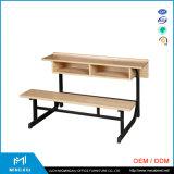 Proveedor de China alta calidad adjunta los escritorios de la escuela y silla / escritorio de la escuela