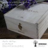 Hongdao 손잡이를 가진 나무로 되는 케이크 상자