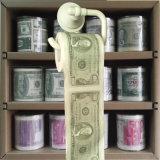 El dólar imprimió el rodillo divertido del retrete de la novedad de los trapos del tocador del papel higiénico