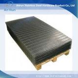 Rete metallica dell'acciaio inossidabile con polvere nera ricoperta