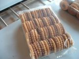 Multi-Fileiras na máquina de empacotamento da borda para o biscoito