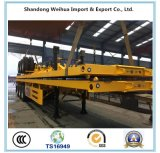 40FT y 20FT 3 Eje 60t Flatbed Container Semirremolque