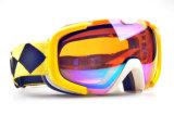 ケースが付いている卸し売りAnti-Fog安全ガラスのスノーボードのゴーグル