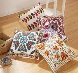 綿のキャンバスのウールの刺繍Decoration クッションカバー枕箱の花デザイン国民様式