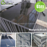 磨かれた表面G511モンゴルの黒い花こう岩の壁のタイル600X600