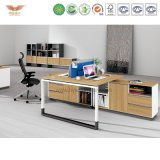 Bureau exécutif en bois moderne de meubles de bureau (H90-0204)
