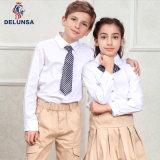 Camisa blanca barata internacional del uniforme escolar de la camisa de polo de la escuela