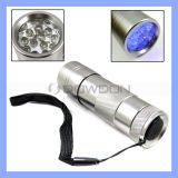 12 LED Flashlight ULTRAVIOLETA Torch para Hygiene Checks y Detecting Pet Urine (TORCH-01)
