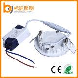 lâmpada magro Ultrathin redonda da luz de painel do teto do diodo emissor de luz 3W