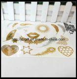 Transferencia Temporal joyería metálica lámina de oro de agua etiqueta de moda de tatuajes