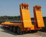3 Axles Lowbed трейлер тележки Semi изготовления Китая