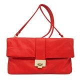 نمو [كلوتش بغ] حقيبة رخيصة قصيرة [لثر بغ] حمراء جلّيّة