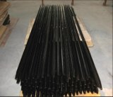 Пикетчик звезды Австралии 1650mm длиной черный Bitum/стальной столб y