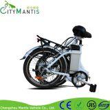 Bici eléctrica plegable de la batería de litio del marco de la aleación con Shimano Derailleur