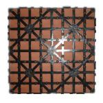 HDPE Flooring+Plastic niedrige WPC sperrende Decking-Fliesen (HL-300*300)