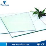 6mm ont gâché la glace claire en verre de flotteur/construction/verre feuilleté