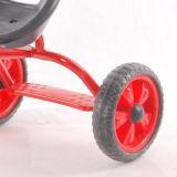 青いカラーは3つの車輪のペダルの三輪車をからかう