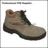 革最高切口の人の鋼鉄つま先PUの唯一の安全靴