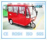 Assentos elétricos solares do triciclo 5 do passageiro, vagão coberto, roda três
