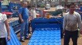 Rullo delle mattonelle lustrato strato del tetto che forma macchina