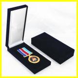 Caixa de papel preta do retângulo para medalhões